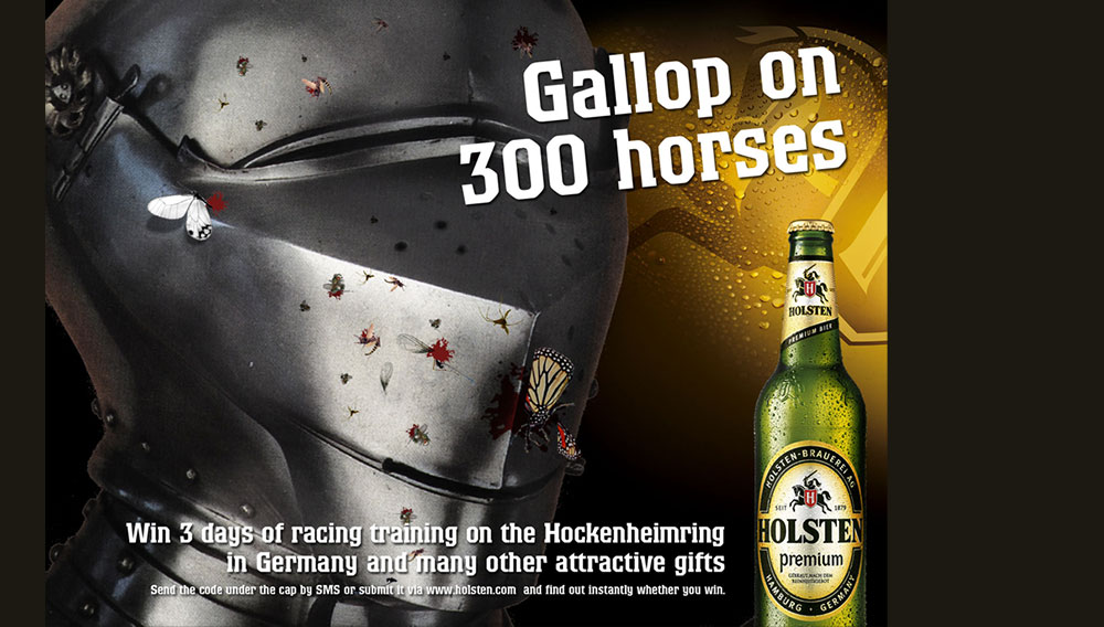 Holsten promo poster and beer mats