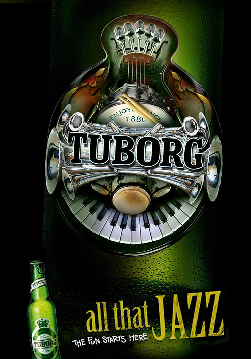 Print advertising for Tuborg